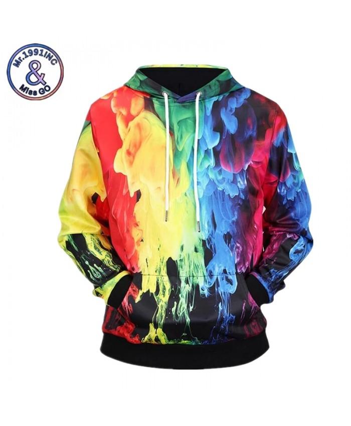 2021 New Fashion Couples Hoodies 3D Print Colorful Smoke Spring Winter Sweatshirts Hoody Tracksuit Tops M-XXXL