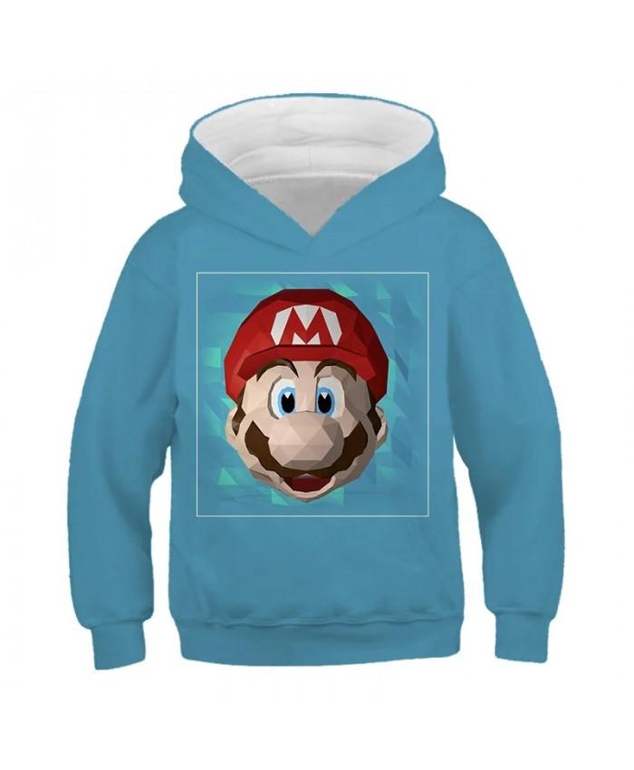 Kids Super Mario Bros Hoodie Fashion Casual Boys Girls Cartoons Sweatshirts Child Pullover Sportswear Tops Gift For Children