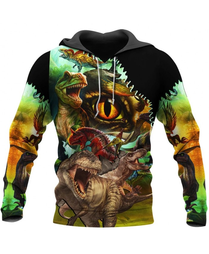 New Fashion Hoodie Exquisite Dinosaur 3D Printed Sweatshirt Hoodie Fun Unisex Casual Street Sweatshirt