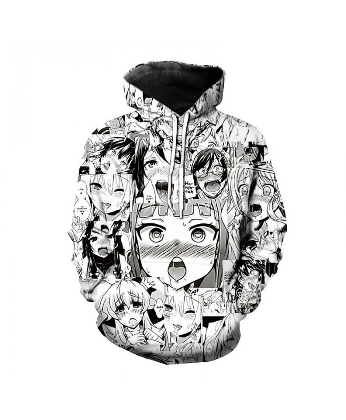 New Hoodies Ahegao 3D Print Hooded Sweatshirt Men Women Casual Fashion Pullover Hoodie Hentai Harajuku Anime Girl Tops Coat Male