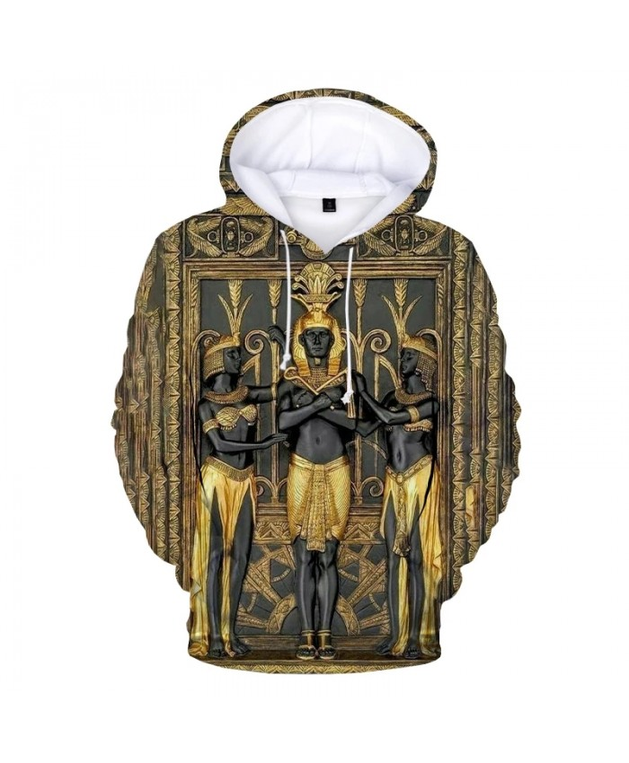 Ancient Black Egyptian Art 3D Printed Hoodie Sweatshirts Men Women Autumn Casual Pullover Ancient Egypt Harajuku Streetwear Tops