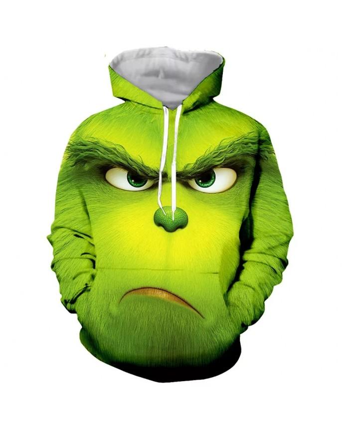 Cartoon little green man Fashion Long Sleeves 3D Print Hoodies Sweatshirts Jacket Men women