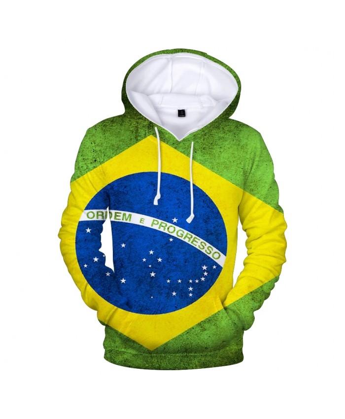 Brazil National Flag 3D Hoodies Men women Fashion Harajuku 3D Print Brazil National Flag Men's Hoodies and Sweatshirt