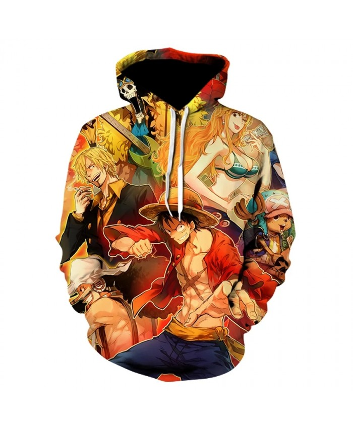 2021 Autumn New Men's And Women's Hoodie Fashion 3d Printing Children's Cartoon Anime Luffy Casual Hip-Hop Sweatshirt Coat