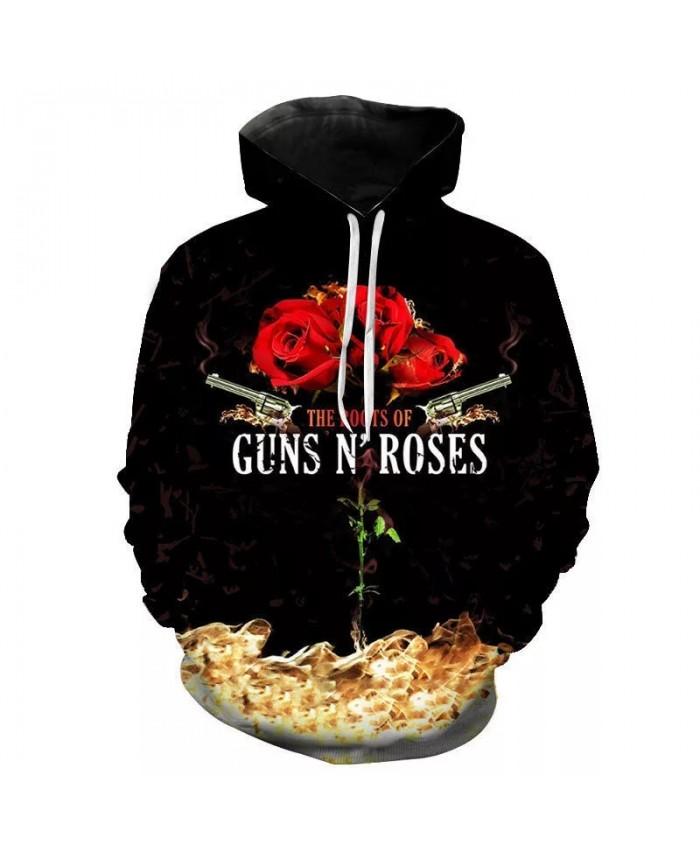 2021 Guns N Roses Band 3D Print Hoodies Men Women Children Sweatshirts Funny Cool Long Sleeved Hip Hop Streetwear Pullover