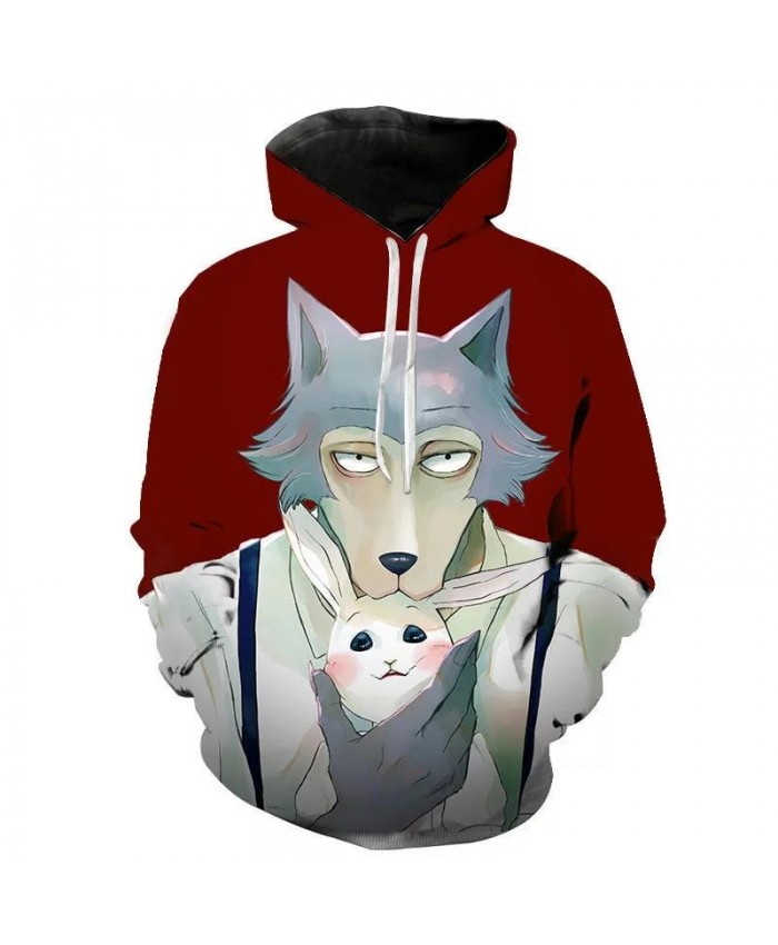 Boys Personality Hoodie Wolf 3D Mens Hoodies Sweatshirt Brand Designer Children Clothes Autumn Winter High Quality Sweatshirt