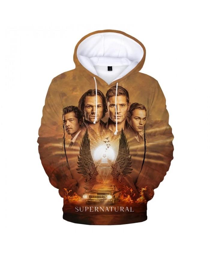 2021 New Supernatural 3D Print Hoodie Sweatshirts Men Women Fashion Casual Cool Pullover TV Series Harajuku Oversized Hoodies