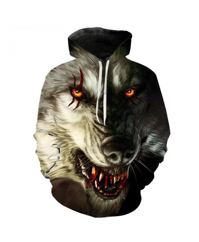 2021 New Wolf Head Hoodies Men's Hoodie Autumn Winter Hip Hop Hoody Tops Casual Brand 3D Wolf Head Hoodie Sweatshirt Pullover