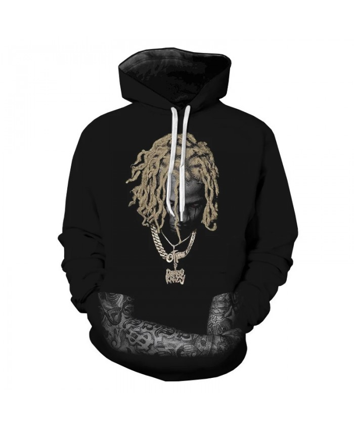 2021 Hip Hop Rapper Lil Durk 3D Hoodies Sweatshirts Men Women Long Sleeve Hoodie Casual Funny Cool Sweatshirt Pullover