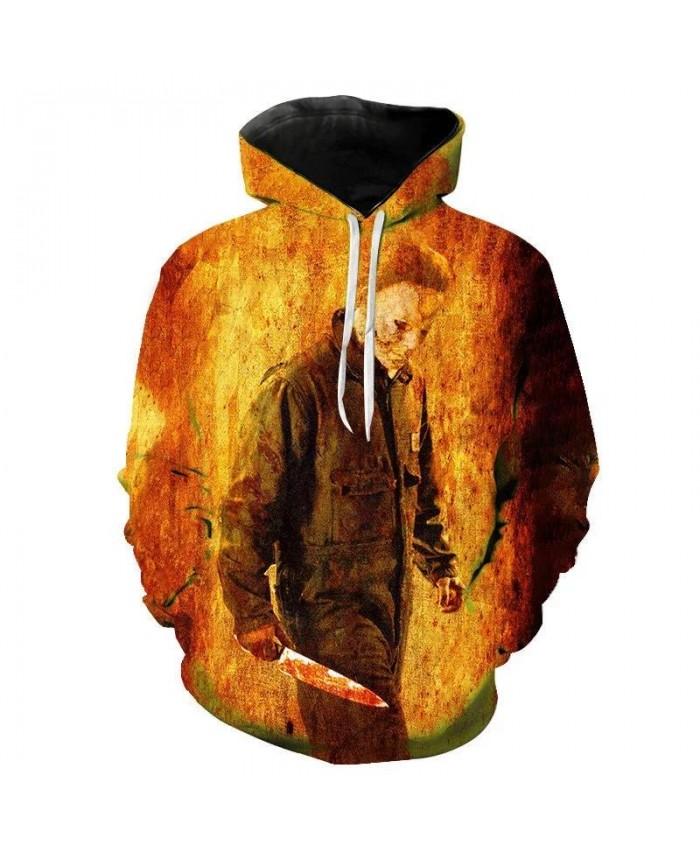 Halloween Michael Myers Hoodies Cosplay Costumes 2021 Scary Movie Horror 3D Printed Hoodies Sweatshirts Cool Harajuku Coat