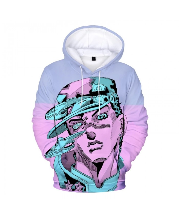JoJo's Bizarre Adventure 3D Print Hoodie Sweatshirts Men Women Fashion Casual Cool Pullover Harajuku Oversized Anime Hoodies