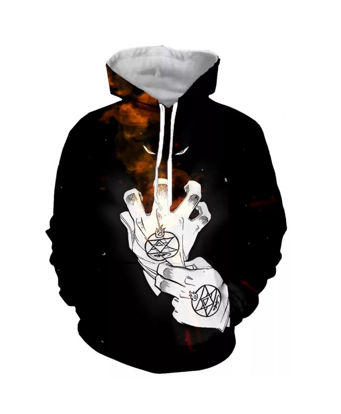 Anime Fullmetal Alchemist Men Fashion Long Sleeves 3D Print  Hoodies Sweatshirts Jacket Men women