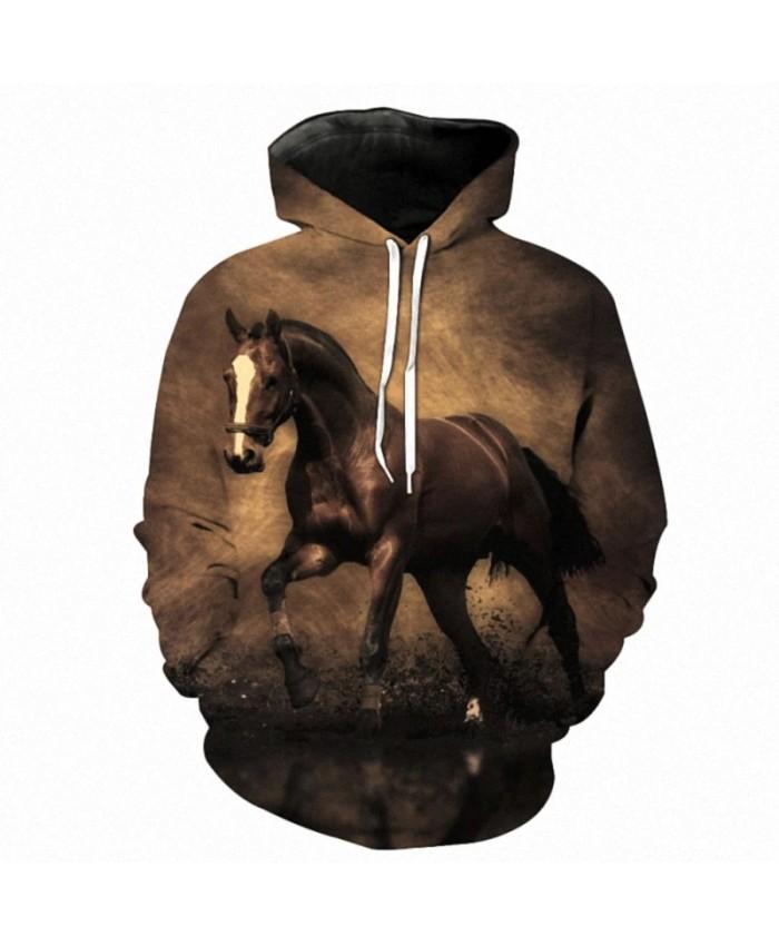 2021 Hot Sale Sweatshirt Men Women 3D Hoodies Print Brown Horse Animal Pattern Pullover Unisex Casual Creative Oversized Hoodies