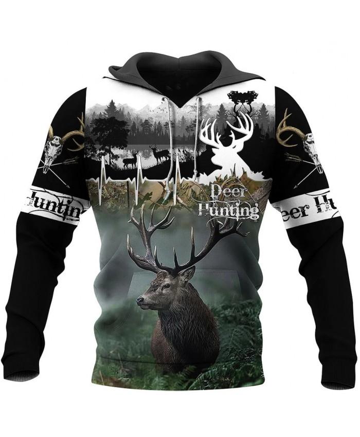 New hooded sweatshirt 3D printing beautiful hunting mad sweatshirt hoodie zipper hoodie fashion unisex casual street sweatshirt