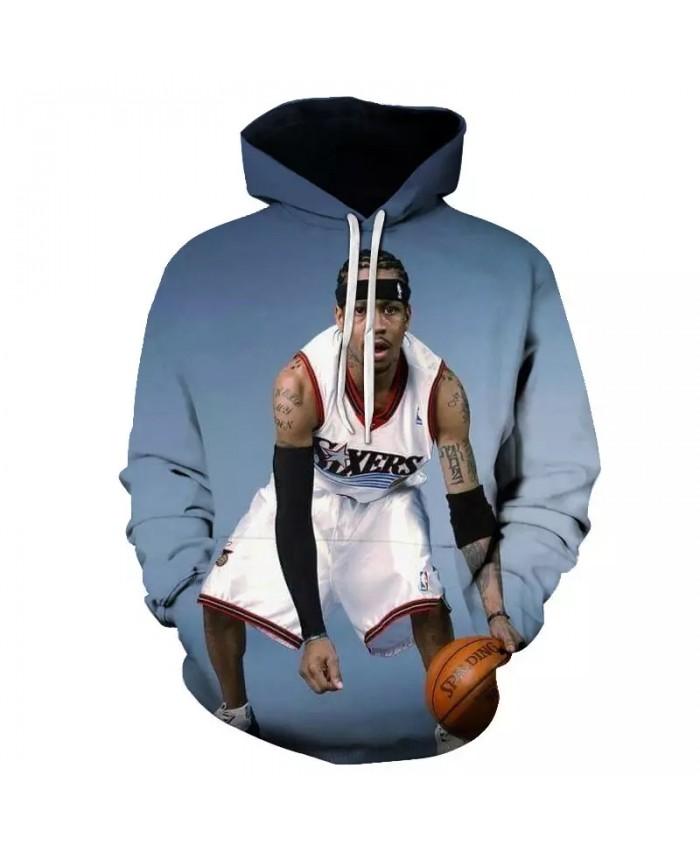 All-Star Basketball Hoodie Basketball Superstar Print Hoodie 2021 Casual Sweatshirt Hoodie Hip Hop Street Wear Men's Hoodie