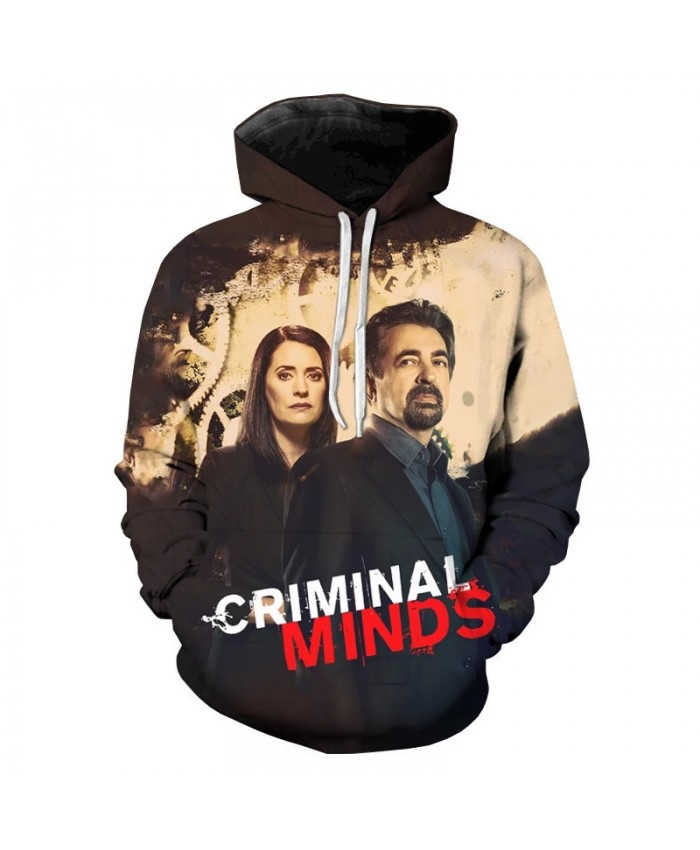 Man And Woman 3D Hoodies Male Fashion Hooded Sweatshirt Criminal Minds Couple Hoodies Long-sleeved Tops Casual Clothes