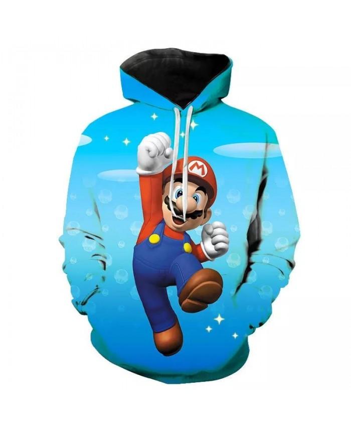 3 To 30 Years Kids Hoodies Game Super Mario Bros 3D Printed Hoodie Sweatshirt Boys Girls Outerwear Jacket Coat Children Clothing