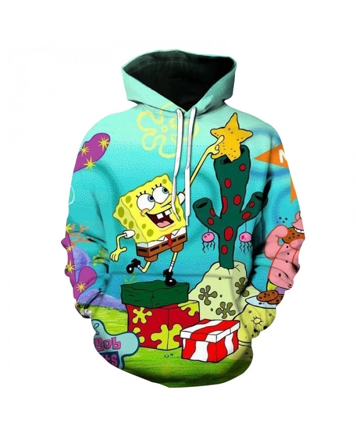 Spring And Autumn Men's And Women's Hoodies 3d Printing Cute Sponge Baby Children's Cartoon Casual Sweatshirt Cool Top