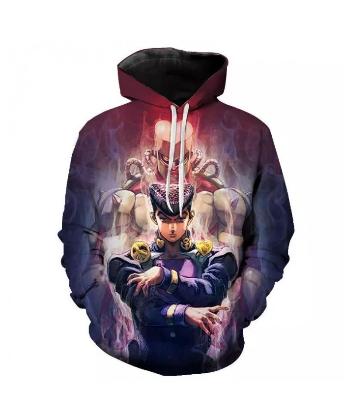 3D JoJo Bizarre Adventure Hoodie Japanese Anime Men women Funny Sweatshirt Harajuku Cartoon Hip Hop Vintage Clothes Male Hooded