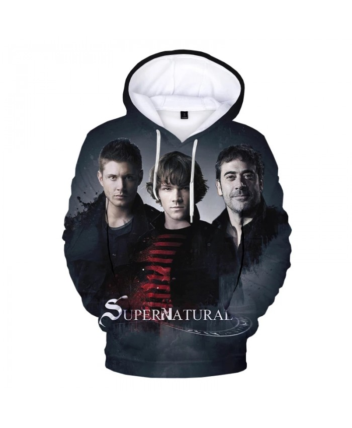 New Supernatural 3D Print Hooded Sweatshirts Men Women Fashion Casual Hip Hop Pullover Personality Streetwear Oversized Hoodies