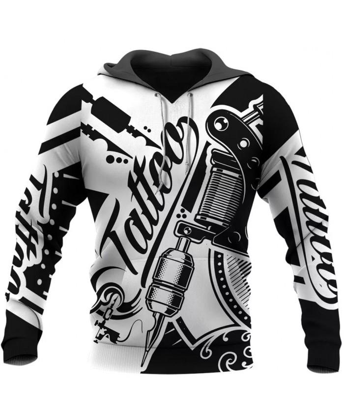 New Fashion Hoodie Nice Tattoo Art 3D Printing Sweatshirt Hoodie Zipper Hoodie Unisex Casual Sports Top