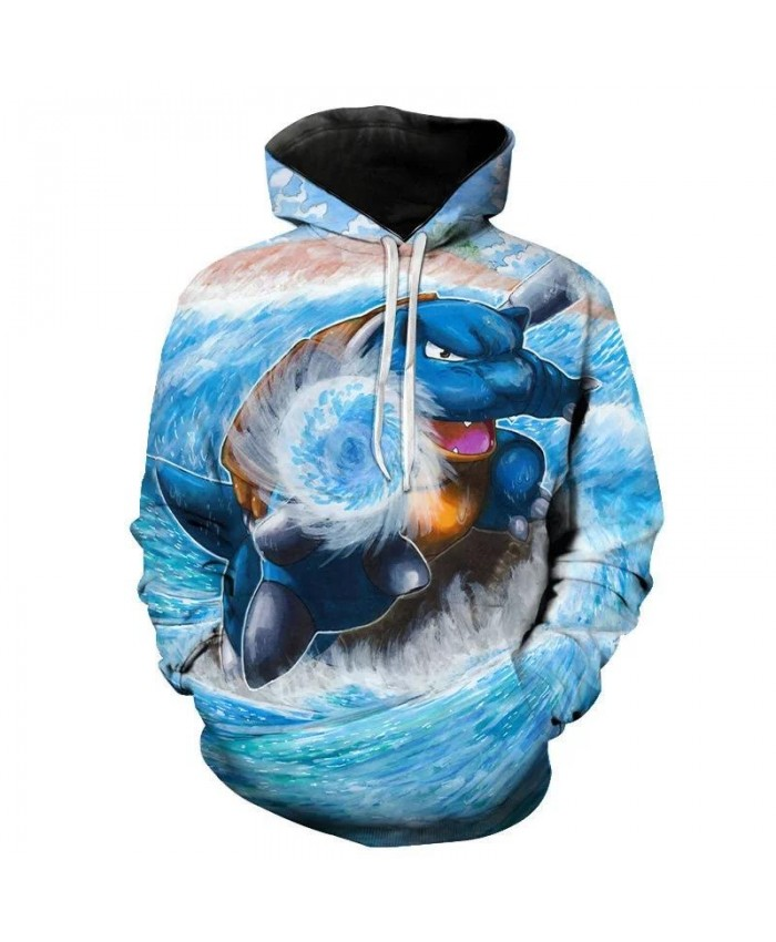 Autumn And Winter New 3d Printed Hoodie Male Female Children Cartoon Fashion Game Pokemon Sweatshirt Long Sleeve Top