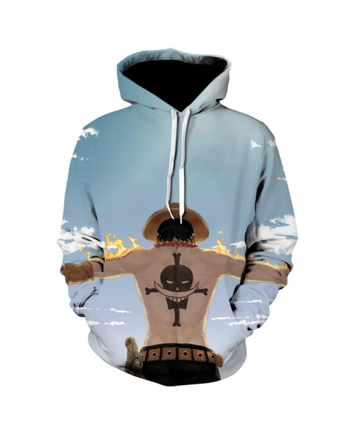 Autumn New Japanese Anime Men's Hoodie 3d Printing Sweatshirt Luffy Children Cartoon Pullover Casual Polyester Long-Sleeved Coat
