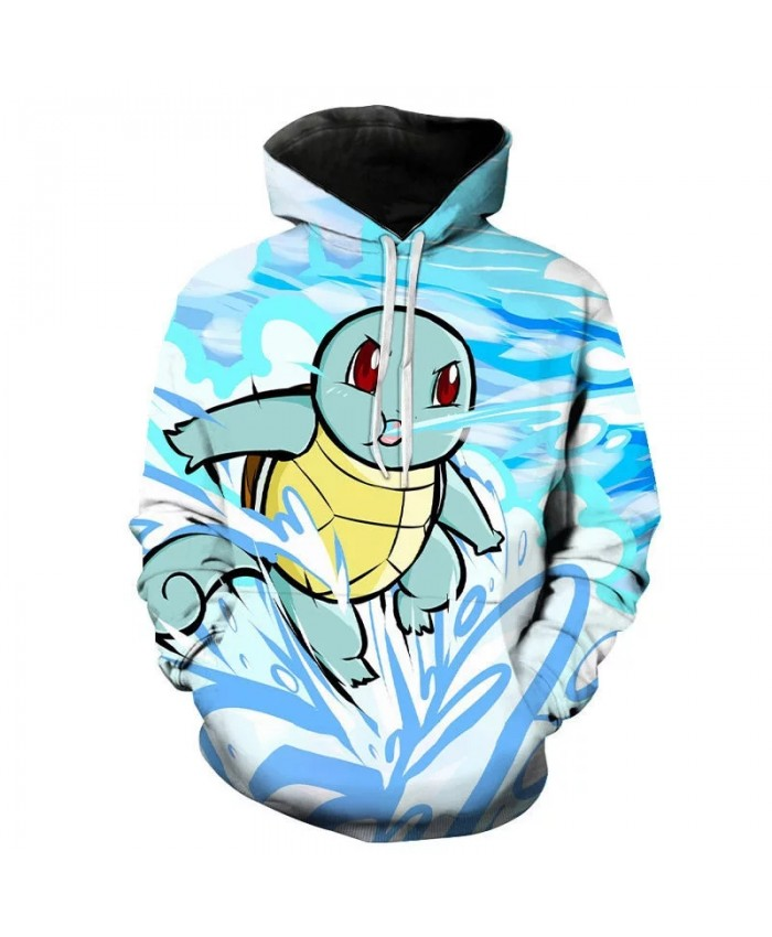 Spring And Autumn Children's Fashion Cartoon Anime Hoodie 3d Printing Men's And Women's Pullover Pokemon Long Sleeve Coat