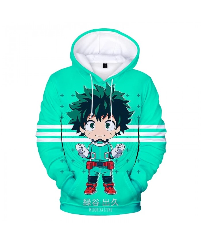 My Hero Academia 3D Print Hoodie Sweatshirts Deku Harajuku Streetwear Anime Hoodies Men Women Fashion Casual Cartoon Pullover