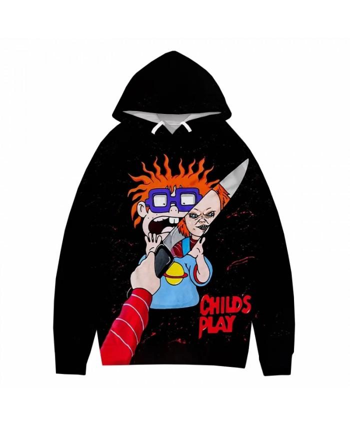 Horror Movie Chucky 3D Print Hoodie Sweatshirts Harajuku Streetwear Cool Hoodies Men Women Autumn Fashion Casual Pullover