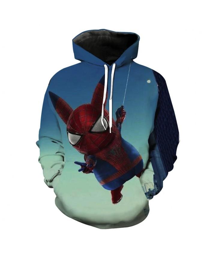 Men's Fashion 3D Hoodie Spoof cartoon doll print sweatshirt