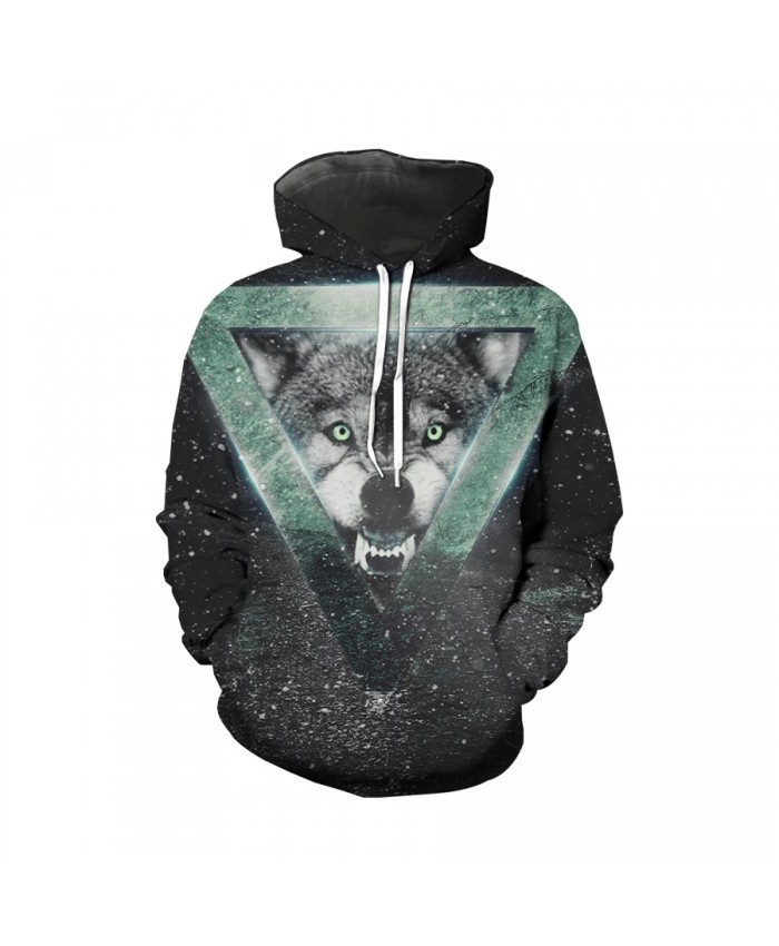 Wolf hoodies men's 3D Hoodie brand Sweatshirt Youth Quality Pullover fashion sports suit animal Street casual coat funny hip hop