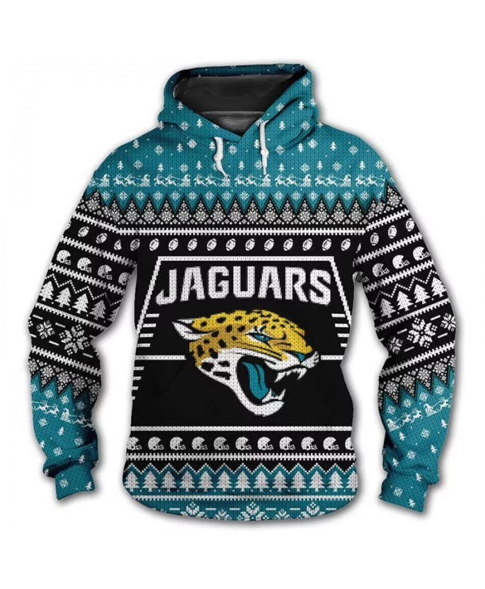 Jacksonville fashion cool Football 3d hoodies sportswear Snowflake alphabet flower tiger print Jaguars sweatshirt