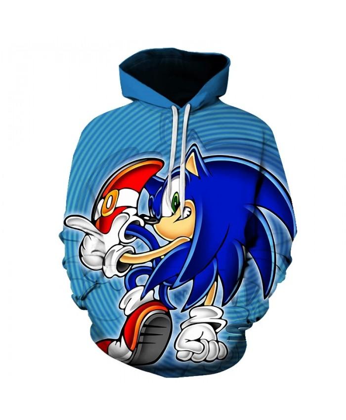 Spring Autumn Brand 3D Sweatshirts Mens Sonic the hedgehog Cool Planet Sweatshirt Newest Japanese Funny Harajuku Style hoodies