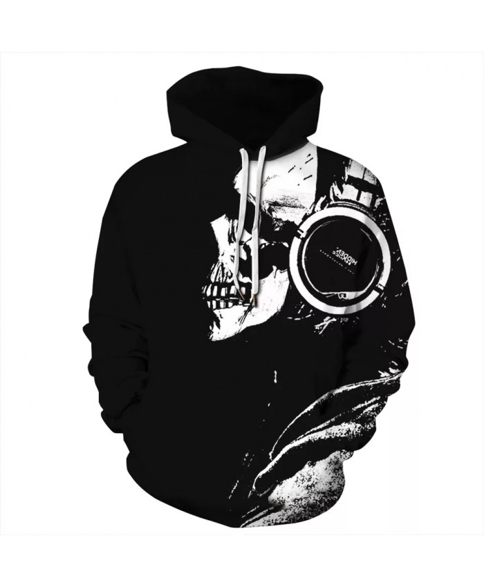 Skull Head Men Hoodies Sweatshirts 3D Printed Funny Hip Hop Hoodies Streetwear Hooded Autumn Jackets Unisex Tracksuits