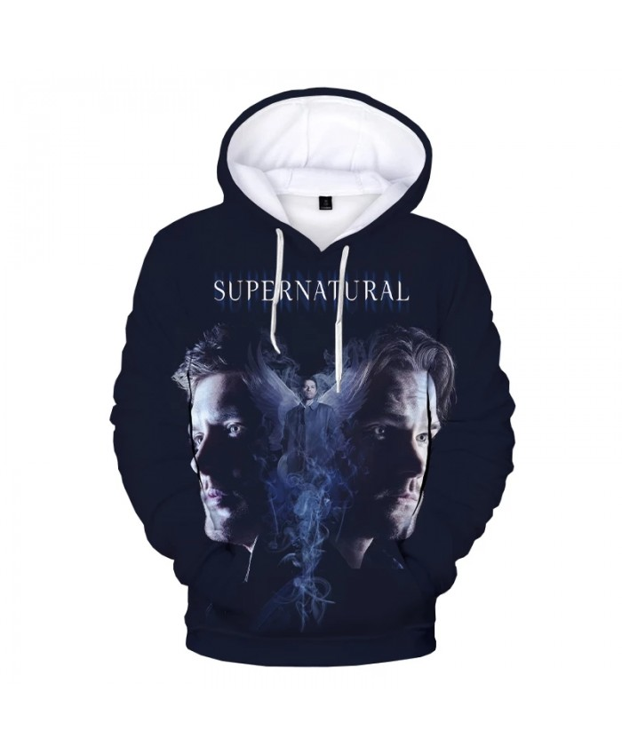 2021 Hot Sale Supernatural 3D Hoodies Men Women Fashion Casual Sweatshirt 3D Print Supernatural Men's Hoodie Oversized Pullover