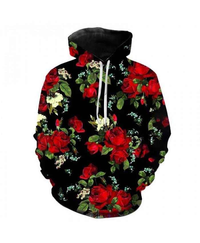 Rose Cosplay Hoodies Men Streetwear National flower 3D Sweatshirt Hoody Mens Clover Hooded Funny Autumn Harajuku Hoodie Pullover