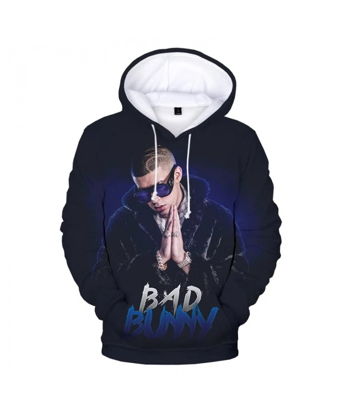 2021 New Bad Bunny 3D Print Hoodie Sweatshirts Harajuku Streetwear Hip Hop Hoodies Men Women Autumn Fashion Casual Pullover