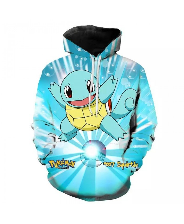 2021 Spring And Autumn Men's And Women's Hoodies Fashion Pokemon Kids 3D Printing Cartoon Anime Sweatshirt Pullover Coat