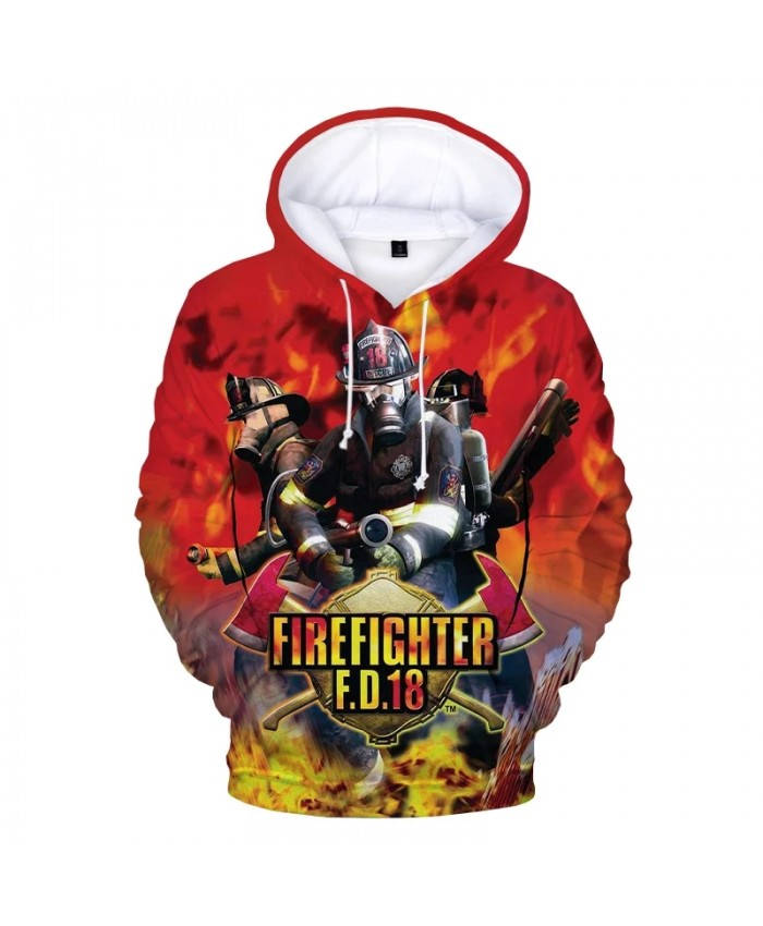 2021 New Firefighter 3D Print Hoodie Sweatshirts Men Women Fashion Casual Cool Pullover Firemen Harajuku Streetwear Hoodies