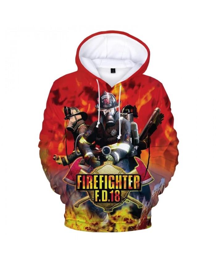 2021 New Firefighter 3D Print Hoodie Sweatshirts Men Women Fashion Casual Cool Pullover Firemen Harajuku Streetwear Hoodies