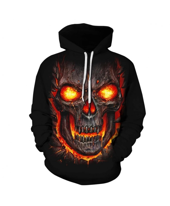 New 2021 Custom Unisex Sweatshirt 3D Skull Printed Pullovers Hoodies Dropship Asian size S-3XL