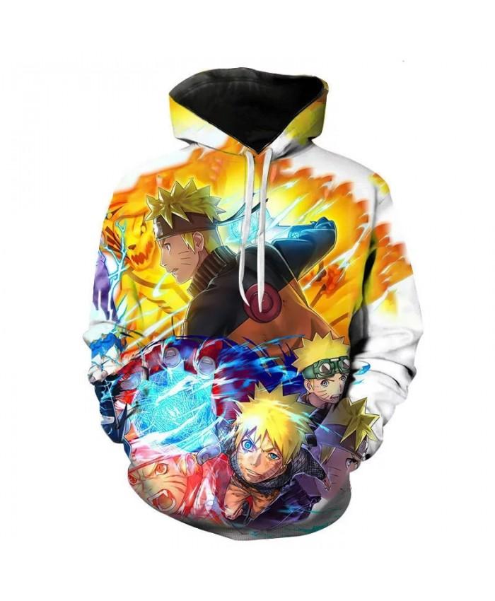 Fashion Naruto Sasuke Men's And Women's Hoodie 3D Printing Children's Cool Nine Tail Sweatshirt Pullover Street Casual Coat