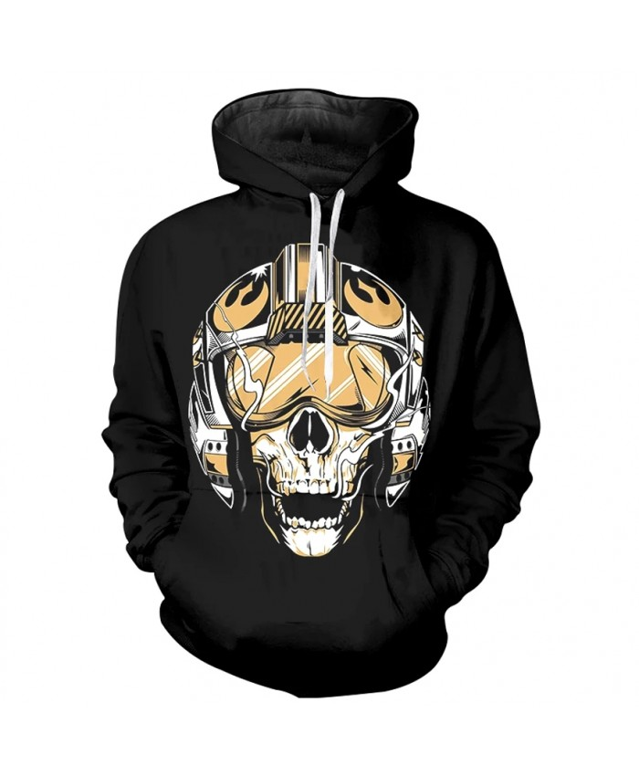 Spring autumn men's cool print hoodie 2021 men's and women's skull series high quality long sleeve thin hoodie