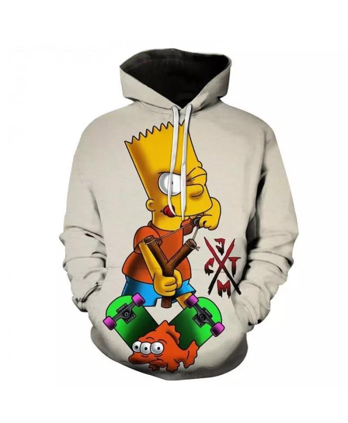 2021 Trendy Cartoon Hoodies The Simpsons 3D Printed Men Women Casual Fashion Hooded Sweatshirt Pullover Hip Hop Streetwear Tops
