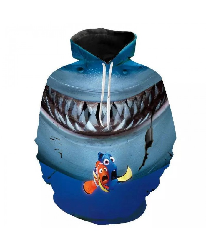 Cool Hoodies 3D Printed Finding Nemo Printed Sweatshirts Men Women Children 2021New Cartoon Animal Funny Boy Girl Kids Tops Anime