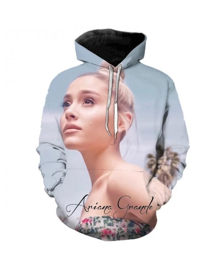 Hot American Singer Ariana Grande 3D Printed Hooded Sweatshirt Funny Men and Women Harajuku Hoodie Cool Kids Hoodies