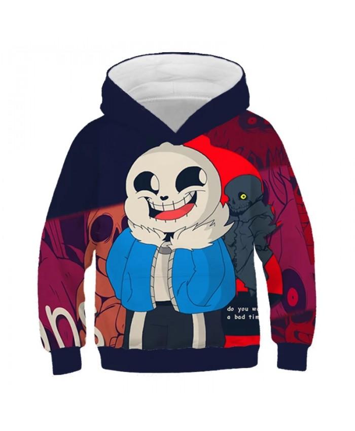 New Undertale Sans Pattern Unisex Hoodie 3D Printing Baby Boy Clothes Fashion Kids Children's Clothing Harajuku Sweatshirt Tops