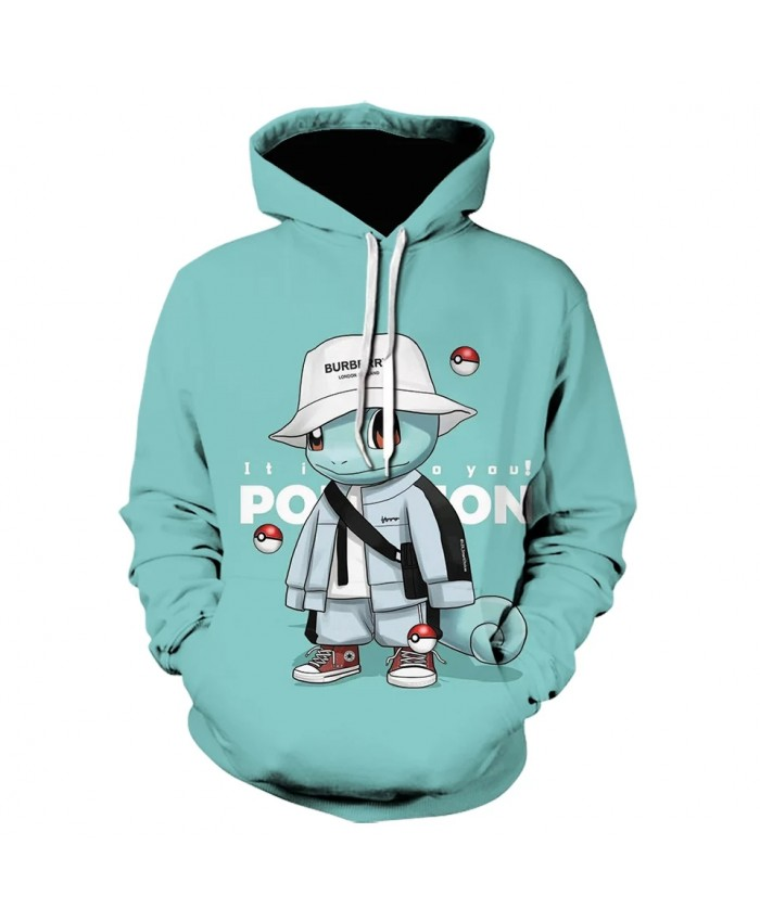 2021 Autumn Pokemon Cute Men's New Brand Hoodie Luminous Jersey Hoodie Sweatshirt Casual Anime Hoodie