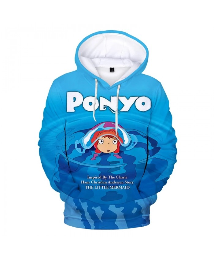Ponyo on the Cliff 3D Print Hooded Sweatshirts Kids Fashion Casual Cool Pullover Men Women Harajuku Streetwear Plus Size Hoodie